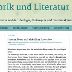 Rhetorik und Literatur